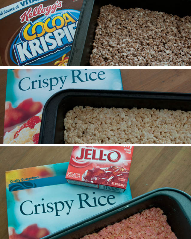 How to make Neapolitan Rice Krispie treats