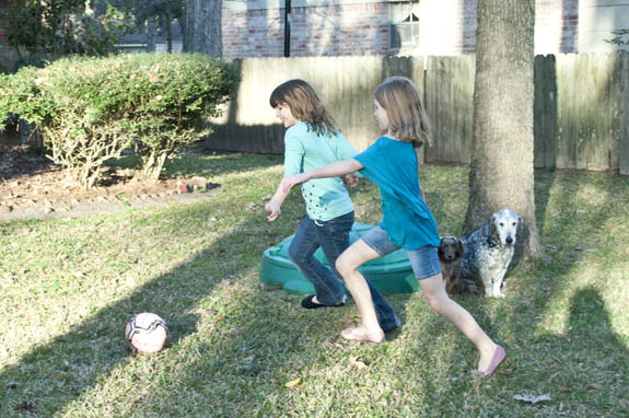 soccer in the backyard 2014 - clumsycrafter