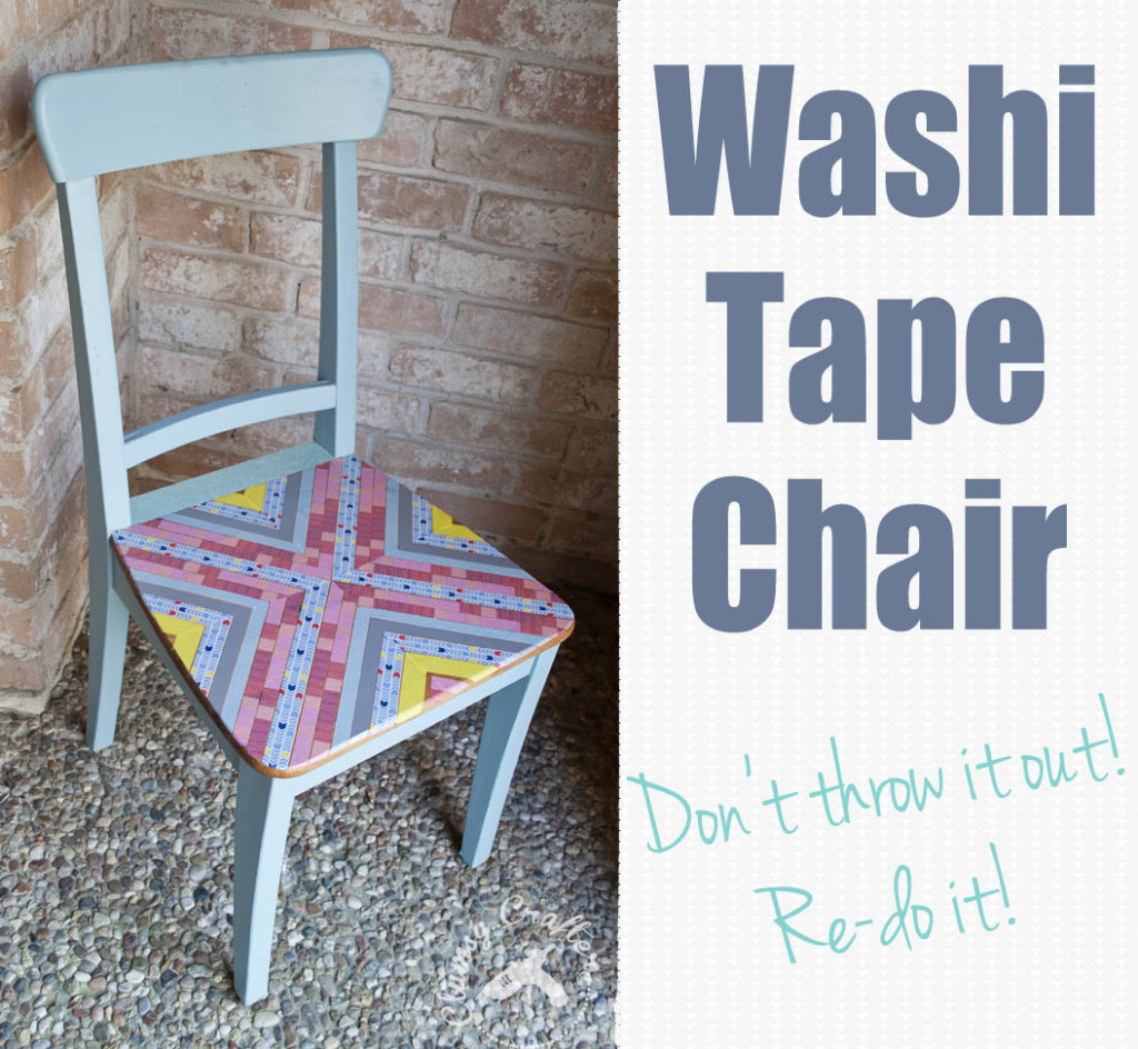 Makeover an old chair with Washi Tape!