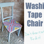 washi tape chair Redoing and old chair from Clumsy Crafter  150x150 Crafts