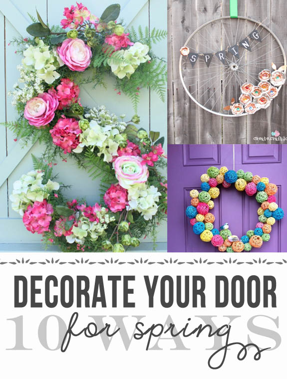 10 Spring Wreath Ideas from Clumsy Crafter
