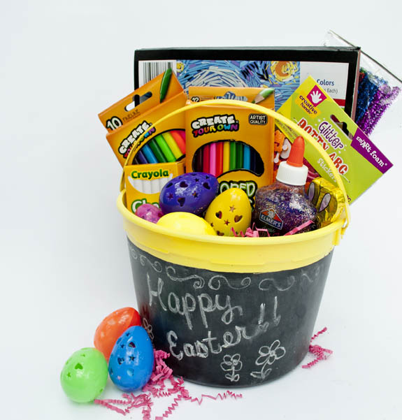 Easter basket for creative girls clumsy crafter creative easter basket for kids negle Gallery