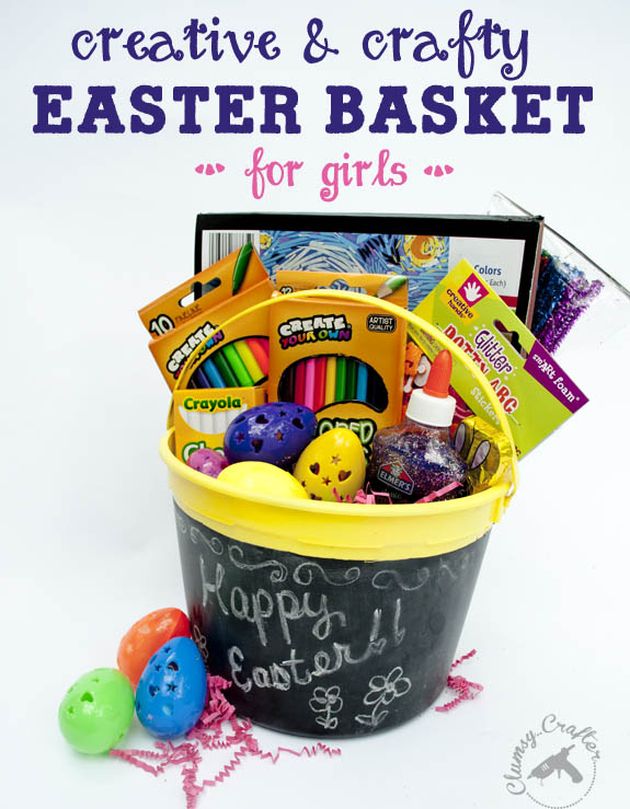 Easter basket for creative girls clumsy crafter creative and crafty easter basket ideas for girls negle Choice Image