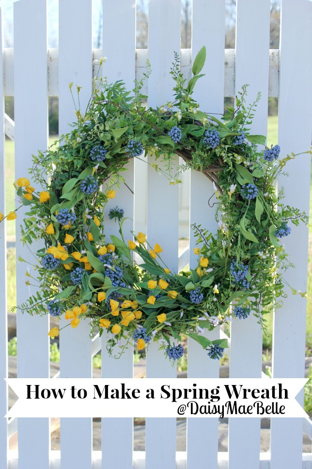 How to make a Spring Wreath by Daisy Mae Belle