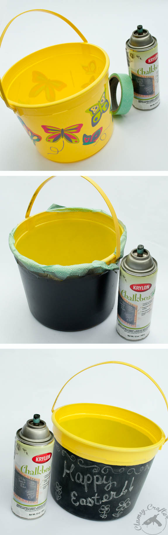How to make a chalkboard easter basket