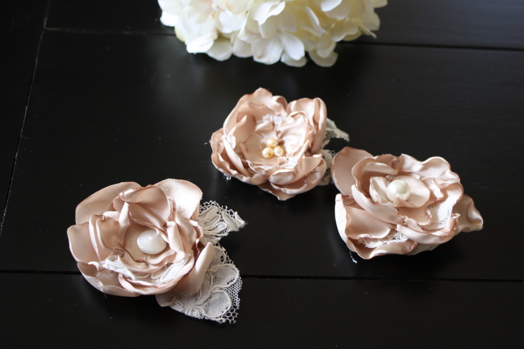 Floral Fabric Hair clips!