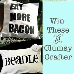 Win these Pillow covers at ClumsyCrafter.com
