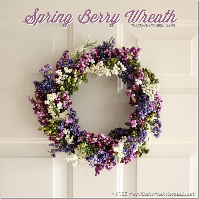Spring Berry Wreath by Tha's What Che Said