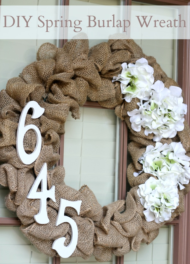 Spring Burlap Wreath from Domestic Superhero