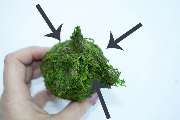 how to cover an easter egg in moss
