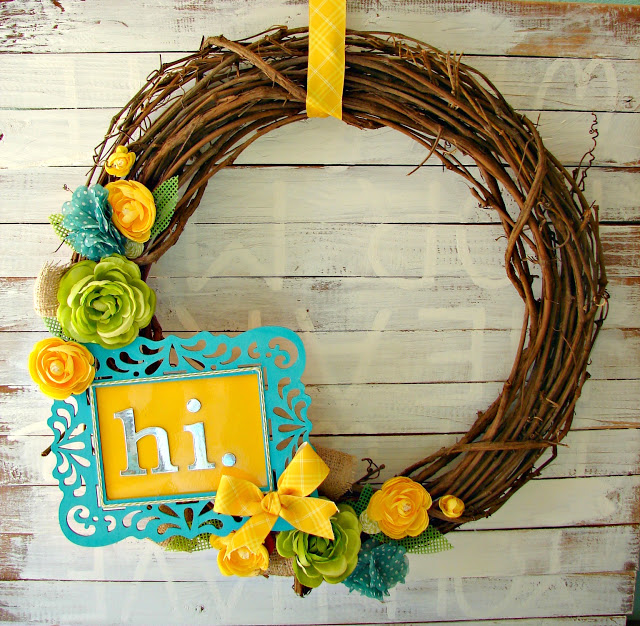 Cute Spring Wreath from A Girl and a Glue Gun