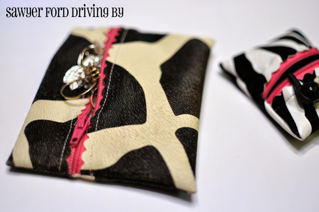How to make these cute zippered pouches