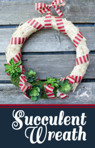 Easy Succulent Wreath