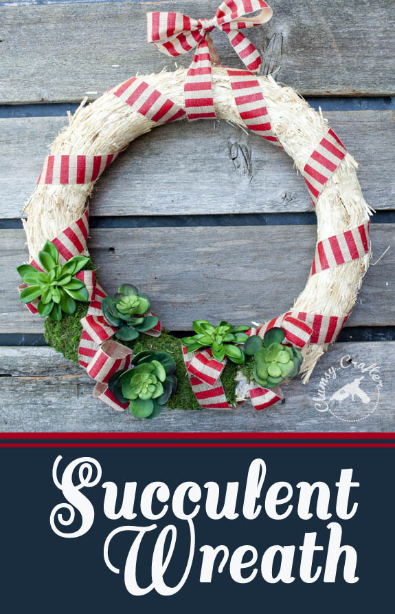 Easy DIY Succulent wreath, perfect for summer