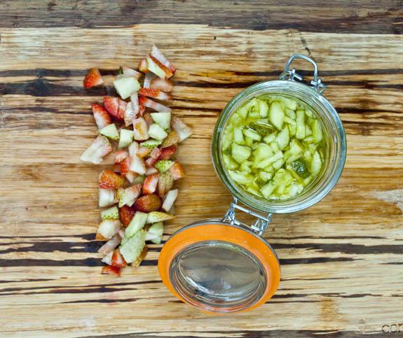 Green Strawberry pickle relish recipe - delicious