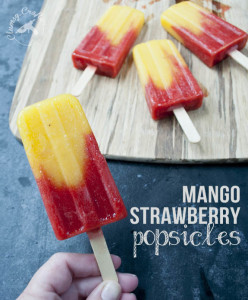 Mango Strawberry Popsicles