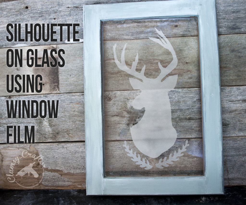 Silhouette on glass using window film