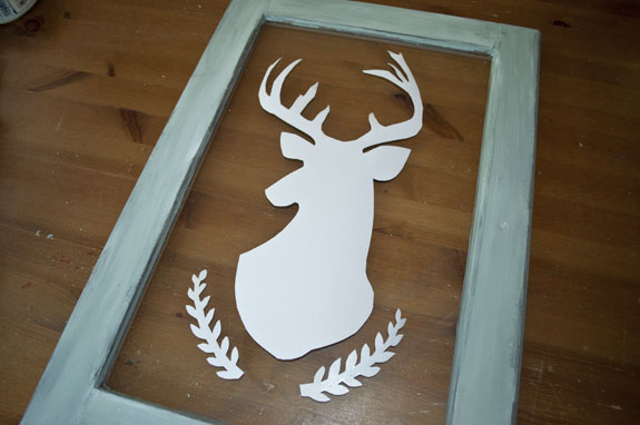 making a deer silhouette on glass using window film