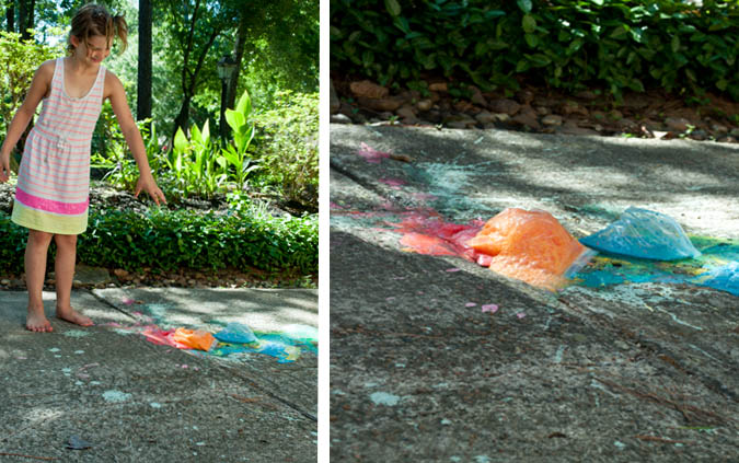Exploding chalk