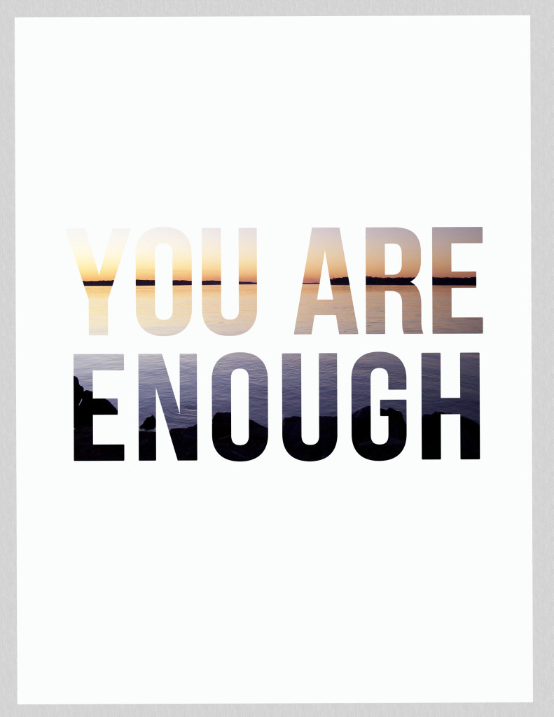 You are enough printable