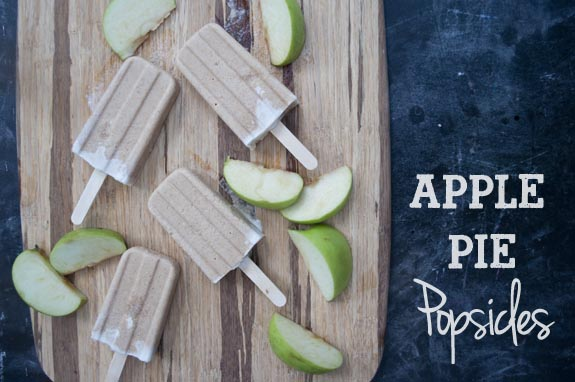 Very yummy recipe for Apple Pie Popsicles
