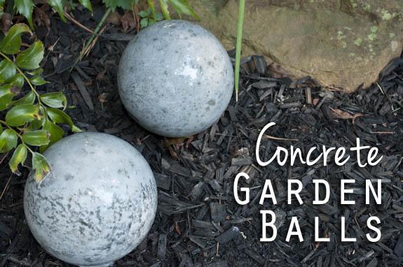 Diy Concrete Garden Balls Clumsy Crafter