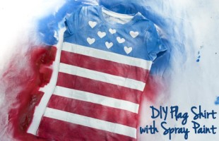 DIY Flag Shirt! Make Your Own Shirts for 4th of July!