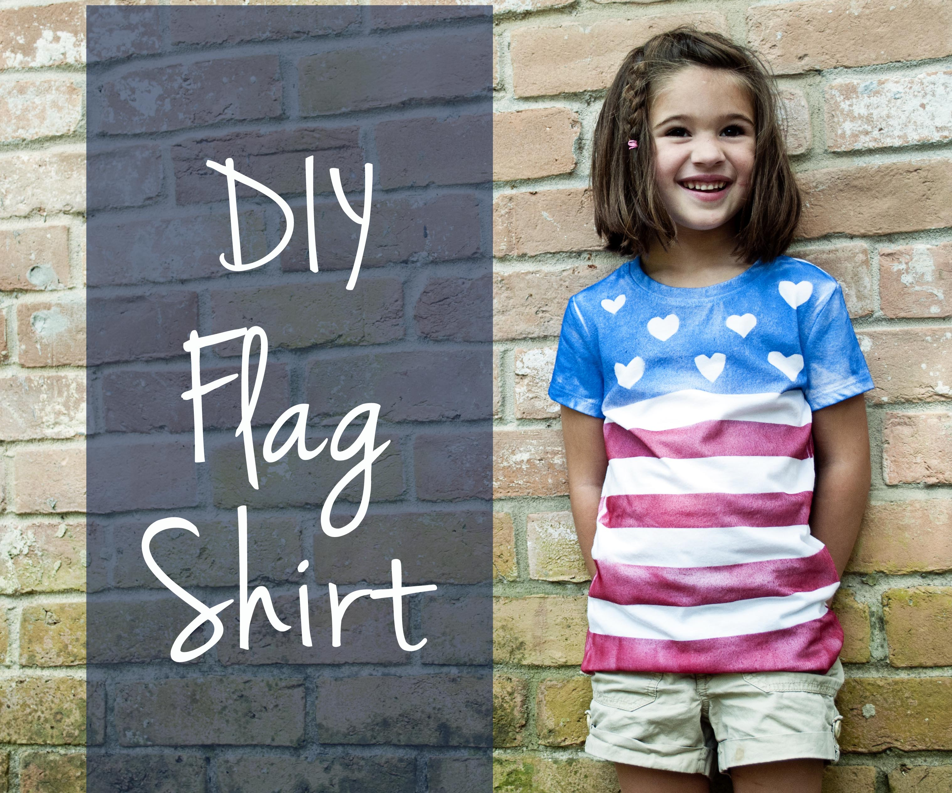 diy patriotic t shirt for 4th of july from clumsy crafter. Black Bedroom Furniture Sets. Home Design Ideas