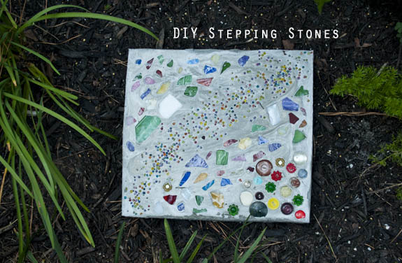 DIY Stepping Stones - So easy! So fun! Great for kids!