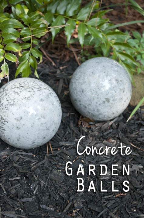 Easy DIY Concrete Garden Balls