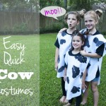 Easy Quick Cow Costumes Great for Chickfil Cow Appreciate day 150x150 Crafts