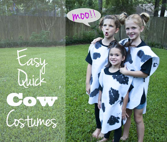 Easy Quick Cow Costumes, Great for Chickfil Cow Appreciate day