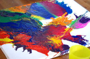 melted crayon art project