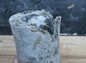 broken concrete vase