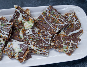 Chocolate toffee recipe with pop rocks candy, fun fall treat for kids