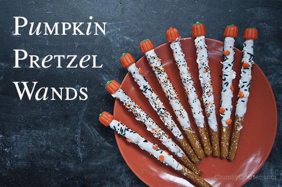 Pumpkin Pretzel Wands - A fun and easy fall treat!