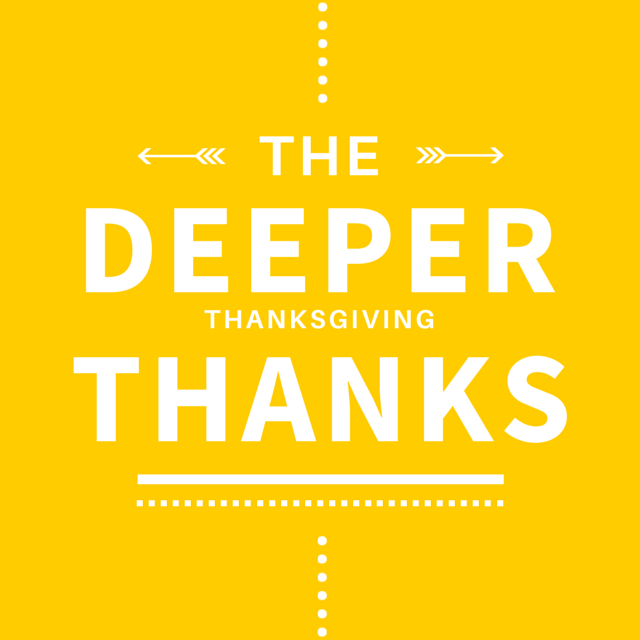 Take Giving Thanks to a Deeper Level