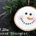 Easy Christmas Ornament Wood Slice Snowman Ornament 150x150 Crafts