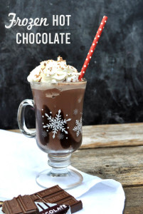 Frozen Hot chocolate recipe - easy and a fun way to serve hot chocolate!