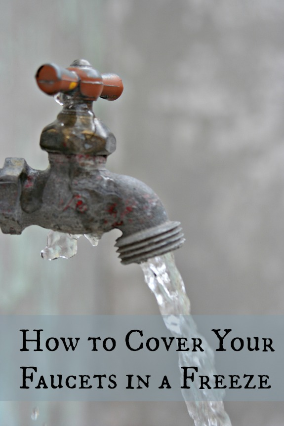 How to Cover Faucets for Winter - Clumsy Crafter