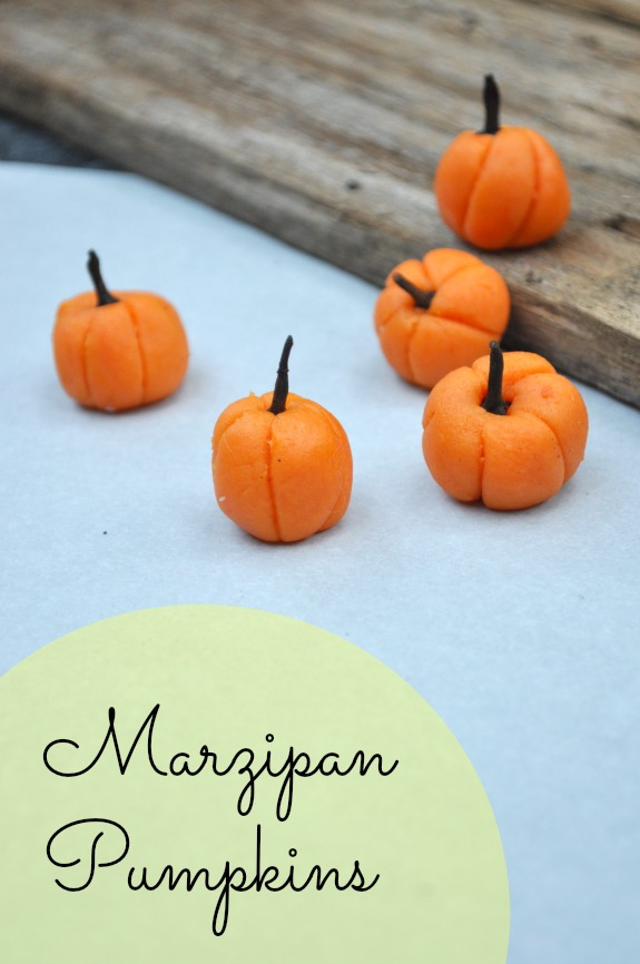 How to Make Marzipan Pumpkins - Cute and Easy Cupcake Toppers