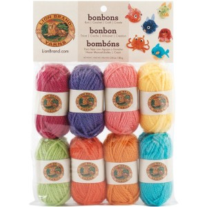 The perfect yarn for little projects such as yarn poofs.