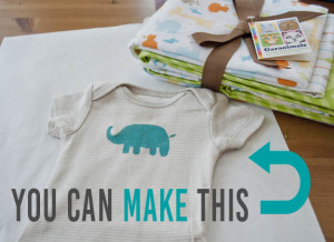 Freezer Paper Stencils! A great way to make a customized gift.