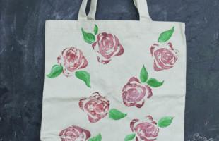 Simple Romantic Rose Tote Bag