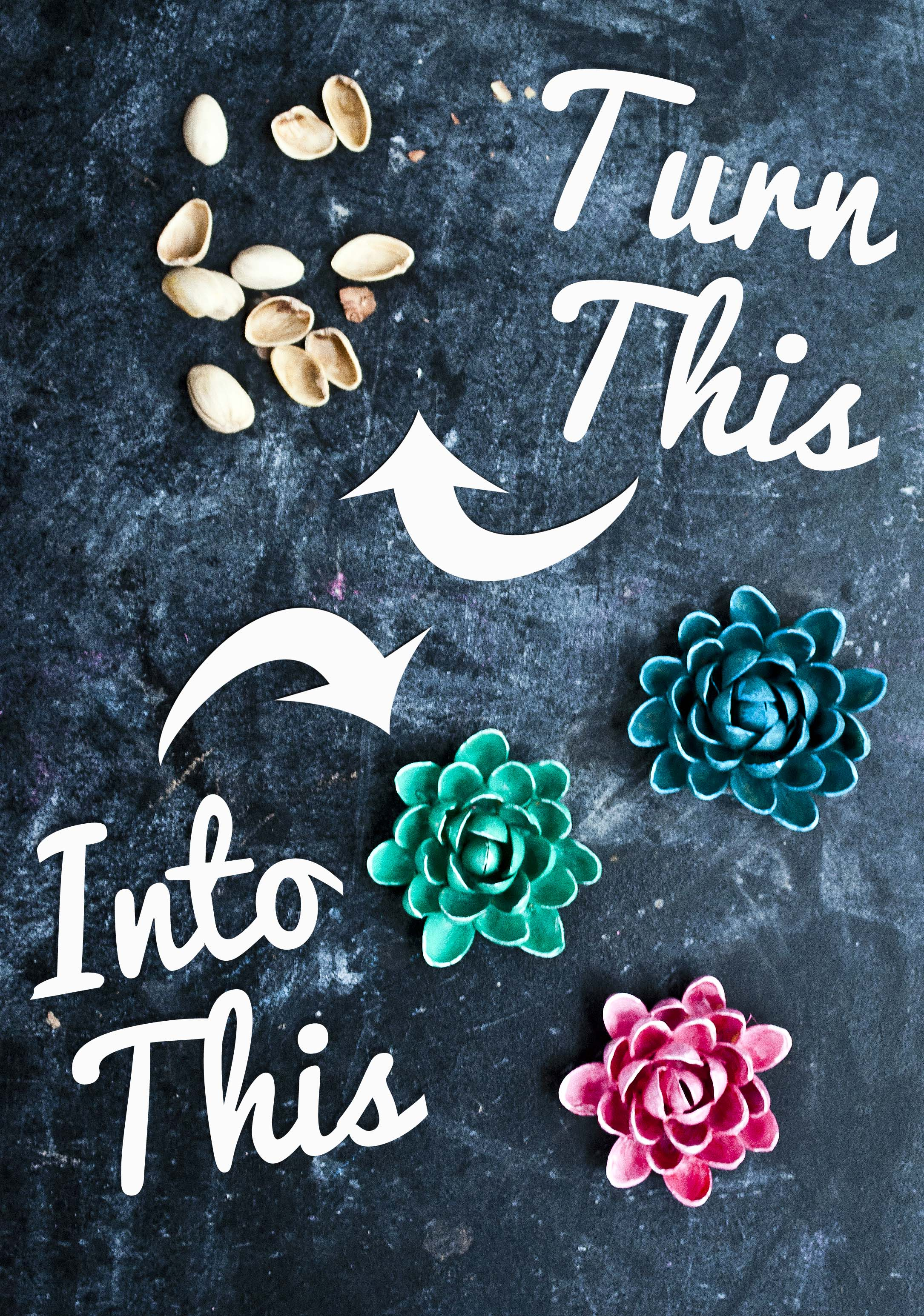 Easy Pistachio Shell Flowers Clumsy Crafter