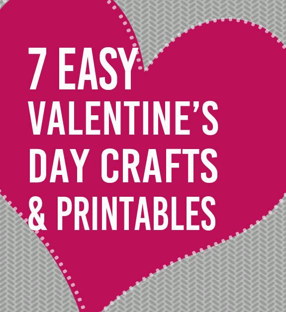 7 easy valentine s day crafts printables clumsy crafter