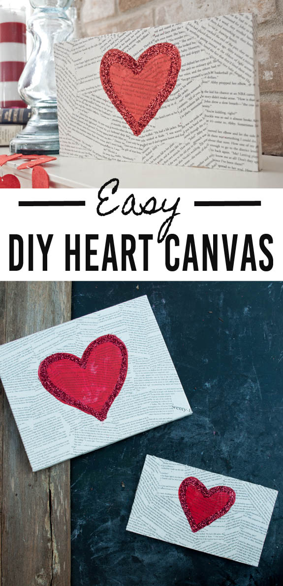 Easy DIY Heart Canvas