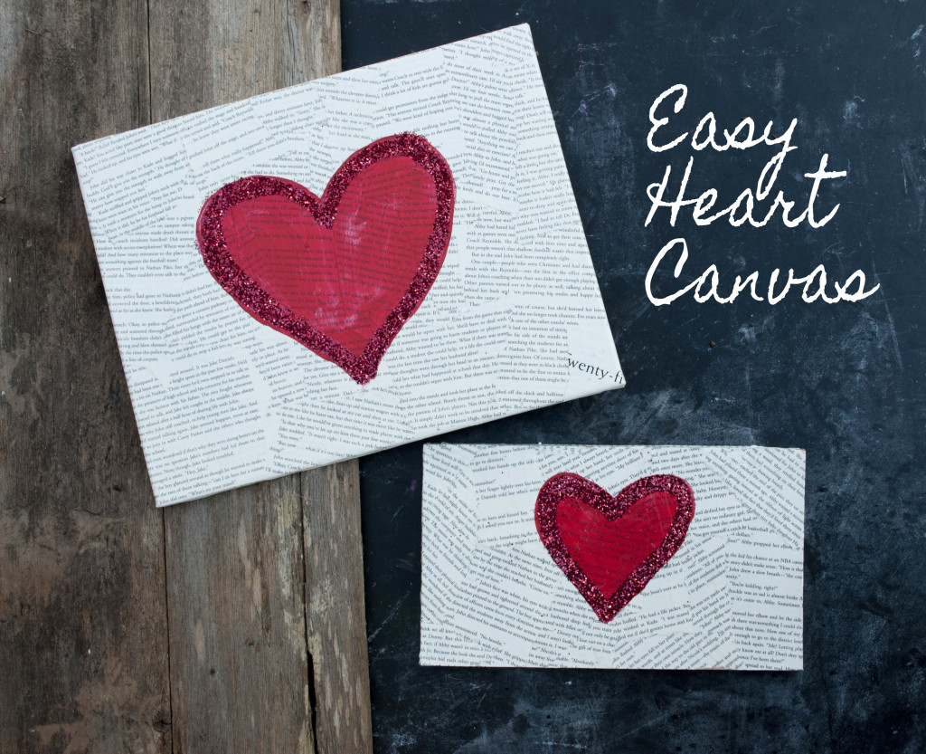 Easy Heart Canvas for Valentines Day