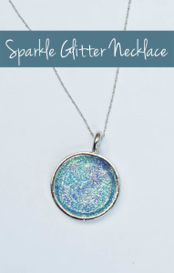 Easy Instructions to make your own Sparkly Glitter Necklace for a few dollars!