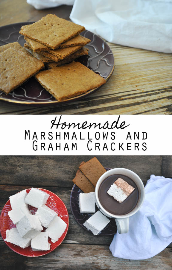 Homemade Marshmallows and Graham Cracker recipes. Just add chocolate and you have s'mores